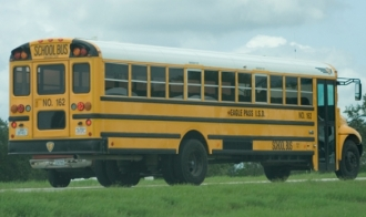 EPISD School Bus struck by  pickup on 1st day of school