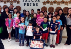 Homemade Cakes donates 3,900 boxtops to Glass Elementary