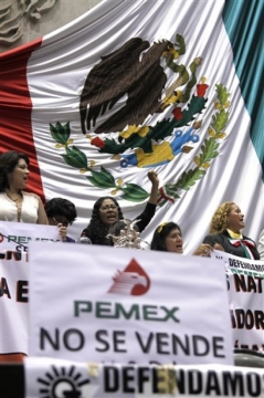 Energy bill advancing through Mexican Congress